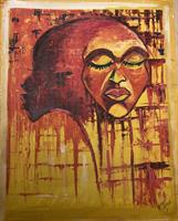Maleri, afrikansk ansikt