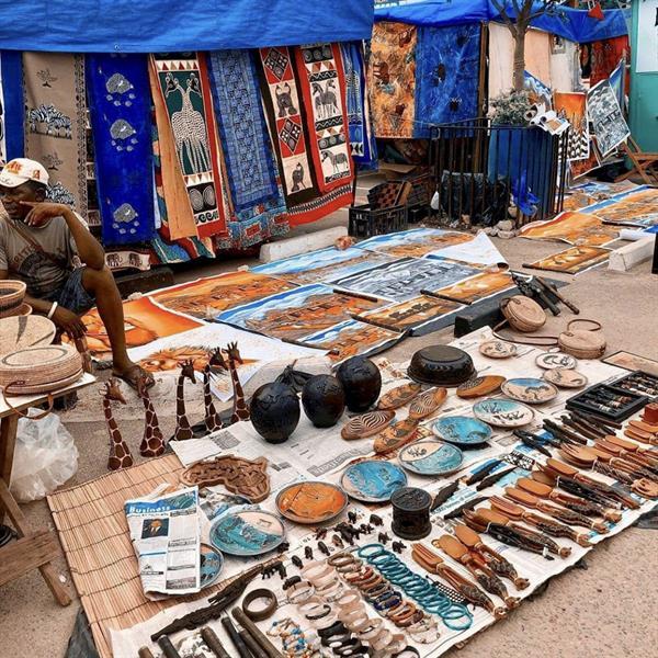 Fargerike marked i Zambia