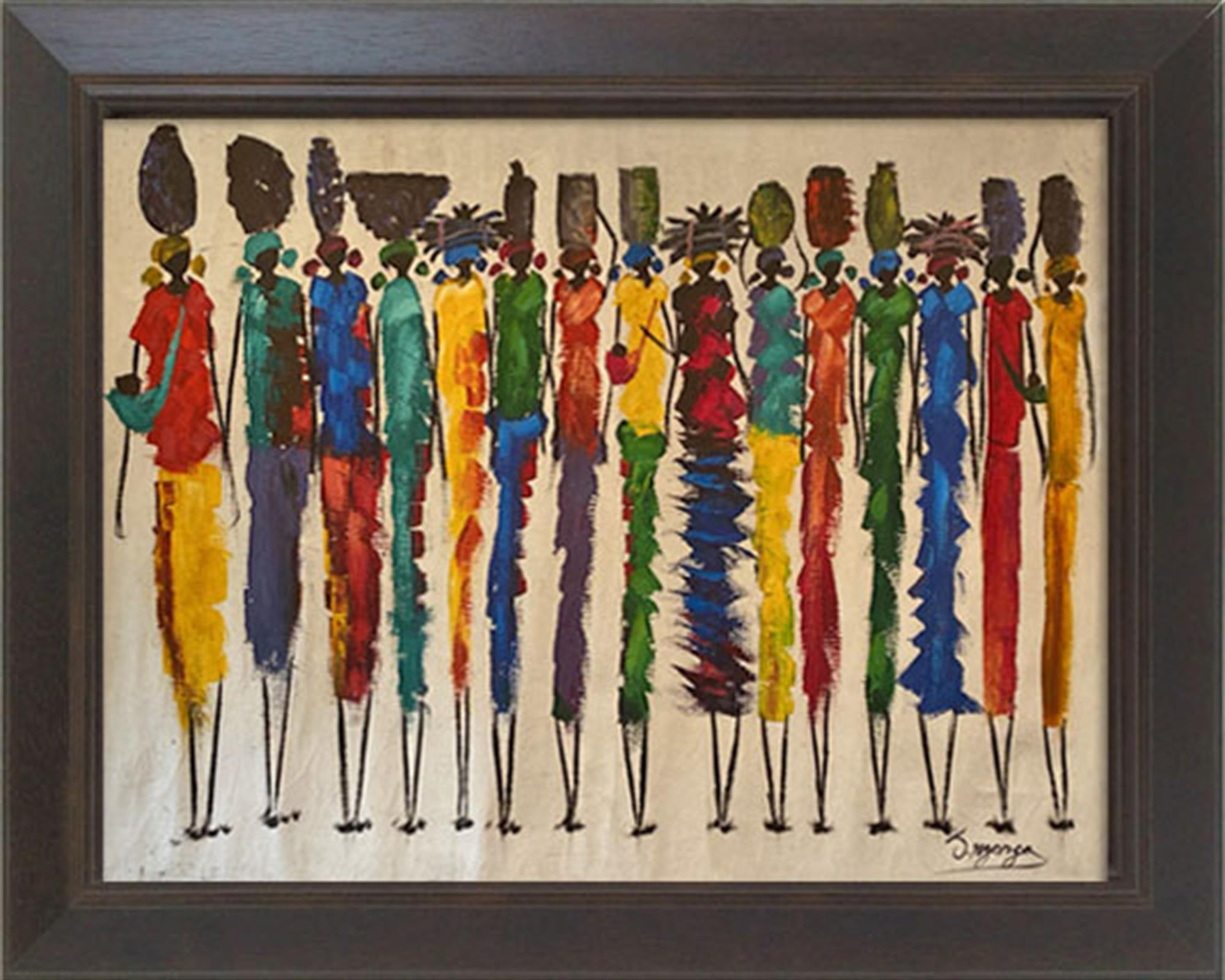 Painting in frame from Zambia