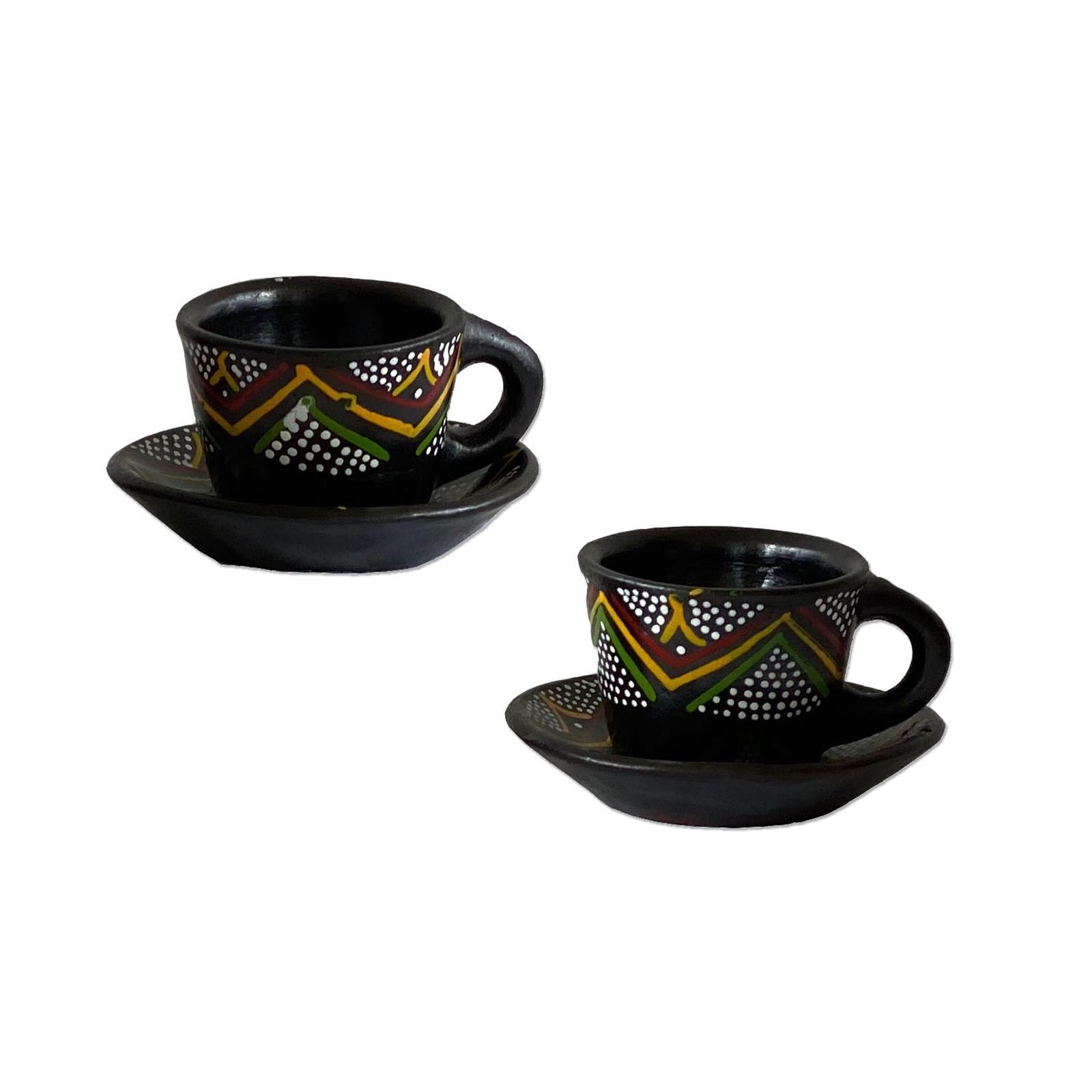 Afrikanske espresso kopper laget av tre